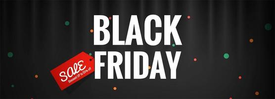 Zwarte vrijdag verkoop banner ontwerp Vector