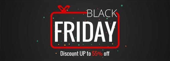 zwarte vrijdag verkoop poster of banner ontwerp