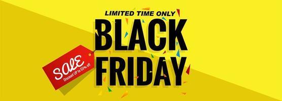 Black vrijdag verkoop banner lay-outontwerp