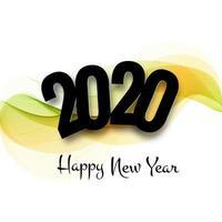 prachtige 2020 nieuwe jaar tekst festival festival achtergrond