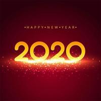 Heldere 2020 nieuwe jaar achtergrondvieringsvector
