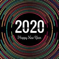 Nieuwjaar creatief 2020 neonringenontwerp