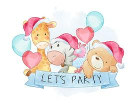 Let's Party Friendship vector