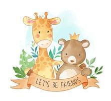 Laten we vrienden zijn vector