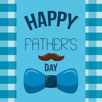 gelukkige vaders dag kaart met snor en strikje