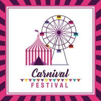 circus en eerlijke carnaval festival poster