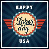 gelukkige dag van de arbeid-kaart vector
