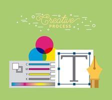 Het creatieve proces vector