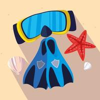 Snorkelvinnen en maskerontwerp