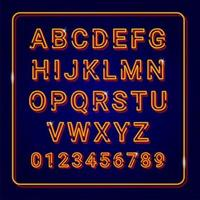 Alfabet goud met neon lampeffect