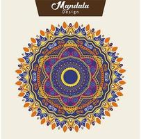 Abstracte kleurrijke mandala-ontwerpvector