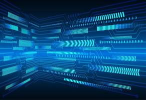 Blauwe pijl cyber circuit technologie achtergrond