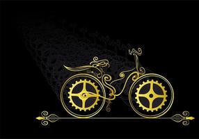 Decoratie fietsvorm vector