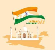 Indische Taj majestueuze moskee vector