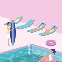 zomertijd vakanties vector