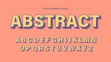 Speels kleurrijk abstract stippen artistiek lettertype vector