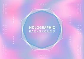 Holografische achtergrond in pastelkleur.