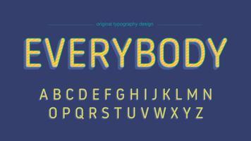 Geel speels afgeronde randen artistiek lettertype ontwerp