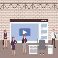 zakenmensen werkruimte