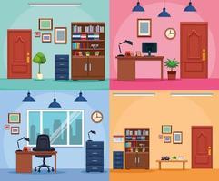 Bedrijf kantoor werkplek set