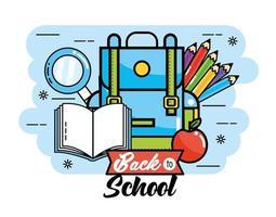 Terug naar schoolcollage
