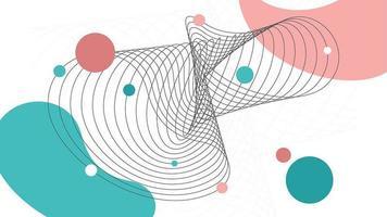 abstracte kromme strepen op de achtergrond van de stijl van Memphis vector