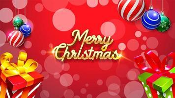 Merry Christmas achtergrond vector