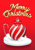 Merry Christmas achtergrond in het rood