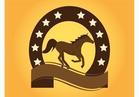 Paard logo vector