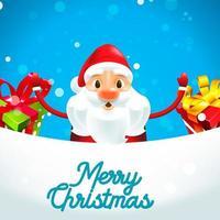 Merry Christmas Santa Claus met geschenken