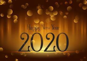 Bokeh licht gelukkig nieuwjaarsontwerp aan