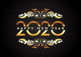 Elegant Gelukkig Nieuwjaarontwerp vector