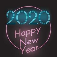 Gelukkig Nieuwjaar neon stijl achtergrond vector