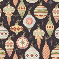 Patroon met kerstballen vector
