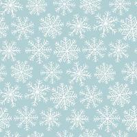 Naadloos patroon met sneeuwvlokken vector