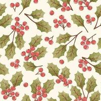 Holly berry naadloze patroon