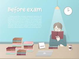 Night Before Exam vector