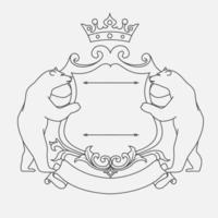 Wapenschild ontwerp vector