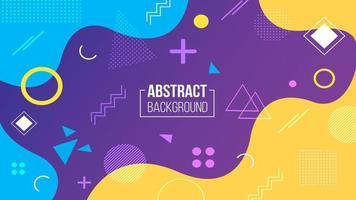 Abstracte paarse gele geometrische achtergrond