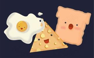 Cute Cartoon design ontbijt vector