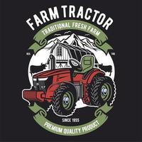 Landbouwtractor ontwerp vector
