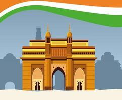 Het nationale monument van India de bouwarchitectuur