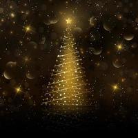 Gouden kerstboom achtergrond