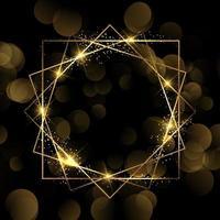 Sparkle gouden rand ontwerp