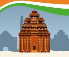 Het nationale monument van India de bouwarchitectuur vector
