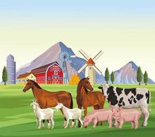 boerderijdieren tekenfilms vector