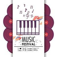 piano klavier instrument voor muziekfestival vector