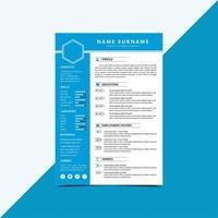 CV-sjabloon hervatten vector