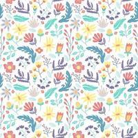 bloem en blad naadloos patroon