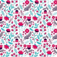 bloem bloeien en bloemen naadloos patroon
